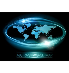 world abstract shine blue vector image