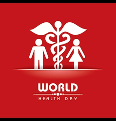 Creative World Health Day Greeting vector image