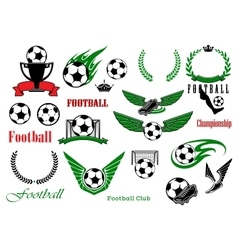 Football or soccer sport game design elements vector image vector image