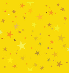 golden stars pattern swatch vector image vector image