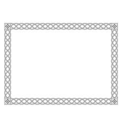 Gothic simple black ornamental decorative frame vector image vector image