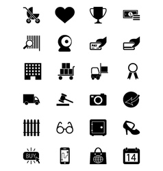 Shopping Icons 2 vector image vector image