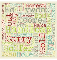 The 3 Types of Handicaps text background wordcloud vector image