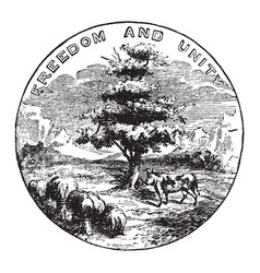 the official seal of the us state of vermont in vector image vector image