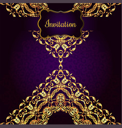 vintage background victorian gold ornament vector image