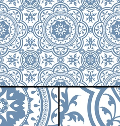 Vintage Victorian Age Blue seamless pattern vector image vector image