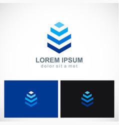 3d shape building company logo vector image