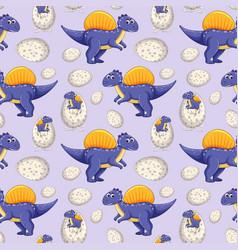 A dinosaur seamless pattern vector