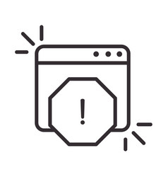 Alert icon information attention danger vector