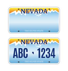 american nevada car license plate vector image