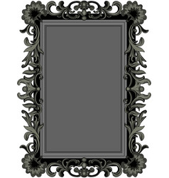 antique black frame vector image