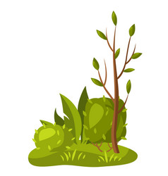 background with tree and bushes vector image