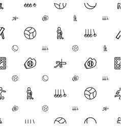 Ball icons pattern seamless white background vector