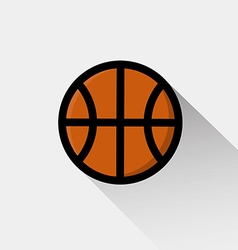Basketball icon long shadow design vector image