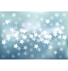 Blue festive lights in star shape background vector image