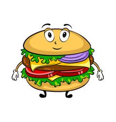 Burger cartoon pop art vector