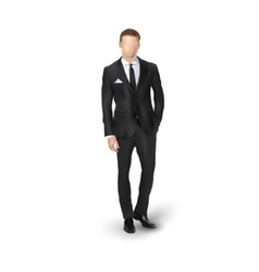 businessmen in suit vector image