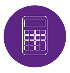 Calculator device isolated icon vector