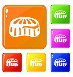 Candy jelly icons set color vector