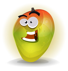 cartoon funny mango character vector image