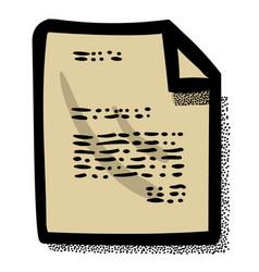cartoon image of checklist icon clipboard symbol vector image