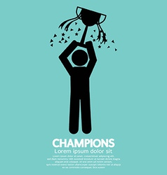 Champions Graphic Sign vector image