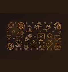 charity line golden vector image