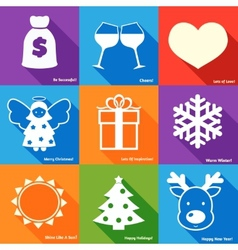 Christmas wishes set vector