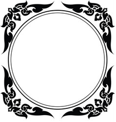circle frame of thai pattern vector image vector image