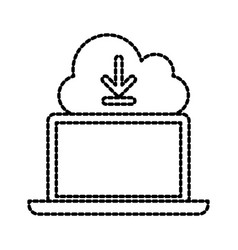 cloud computing download technology storage data vector image