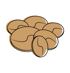 Coffee beans icon imag vector