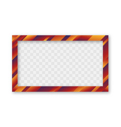 colored trendy gradient frame vector image