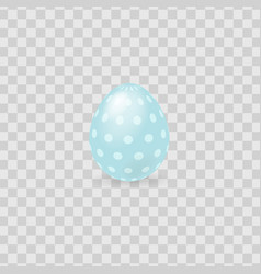 Colorful easter egg isolated on transparent vector
