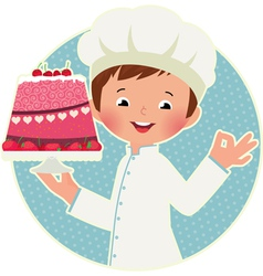 Cook with cake vector
