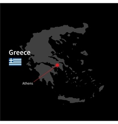 Detailed map greece and capital city athens vector