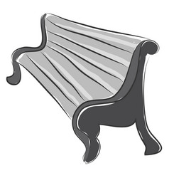 doodle of a bench in perspective color on white vector image