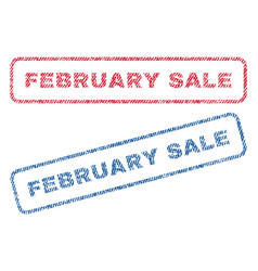 february sale textile stamps vector image