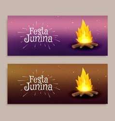 Festa junina festival banners vector