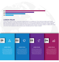 flat colorful infographics step collection vector image