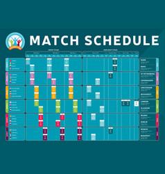 Football 2020 tournament final stage match vector