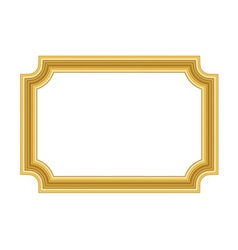 Gold frame Beautiful simple golden vector image