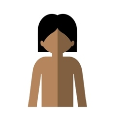 Half body man with nude chest and middle shadow vector