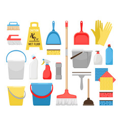 householding cleaning tools housekeeping tool vector image