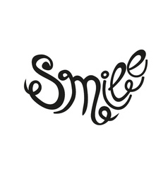 inscription Smile vector image