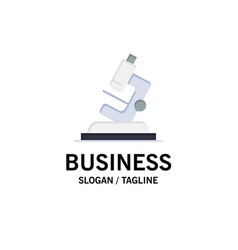 Lab microscope science zoom business logo vector