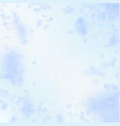 Light blue flower petals falling down trending ro vector