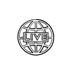 live tv hand drawn outline doodle icon vector image
