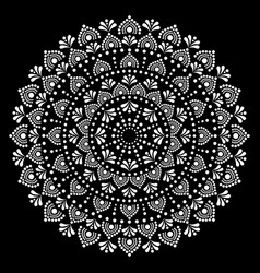 Mandala dot painting design aboriginal tra vector