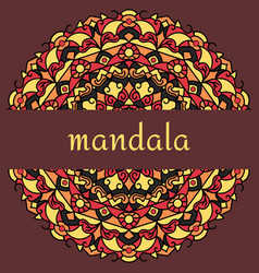 mandala on maroon vector image