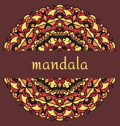 Mandala on maroon vector